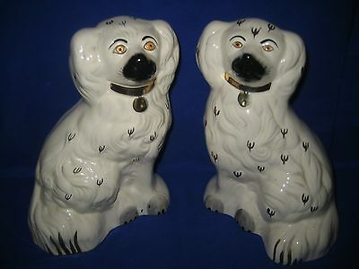 2  x BESWICK  POTTERY  MANTLE SPANIELS DOGS 1378-5  8 ""