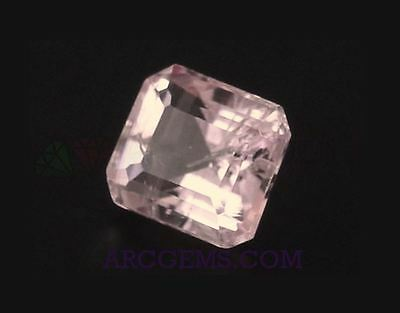 Pink Tourmaline Octagon 1.48ct SI 7x6mm Loose Natural Gemstone Afghanistan