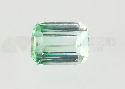 Bi Tourmaline Octagon 2.41ct Green & Colorless 9x6.5mm VS Loose Natural Gemstone