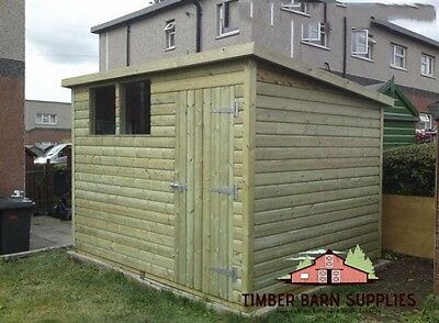 8 X 819mm Tanalised pressure treated T&G Pent shed workshop
