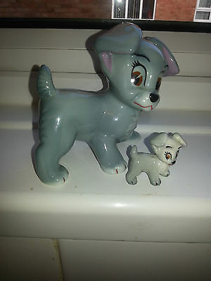 """Wade Disney Large Blow Up Scamp Dog  Figure 1961 4.25"""" Tall In Vgc"""