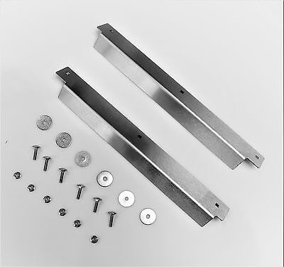 Land Rover Defender Stainless Steel 2nd Row Door Sill Cover (Pair) + SS Bolt Kit