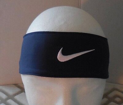 NIKE DRI-FIT Head Tie 2.0 Adult Unisex Color Midnight Navy/White Size OSFM New