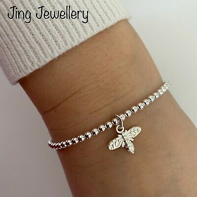 Bracelets Silver Plated Star Charms Beaded Handmade Stacking