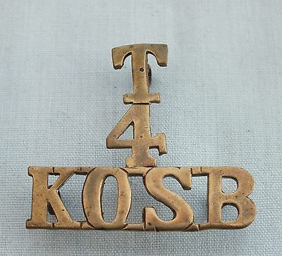 A King's Own Scottish Borderers (T.A.) 4th. Shoulder Title.