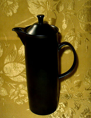Wedgwood Black Minkin Coffee Pot Made In England