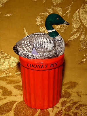 Vintage *looney Bin* Ceramic Piggy Bank