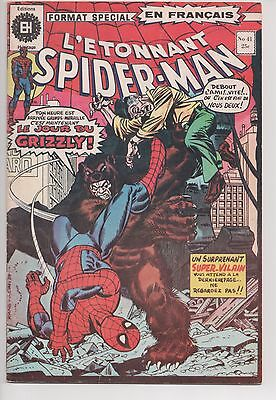 SPIDER-MAN #41 french comic français EDITIONS HERITAGE 1st Grizzly
