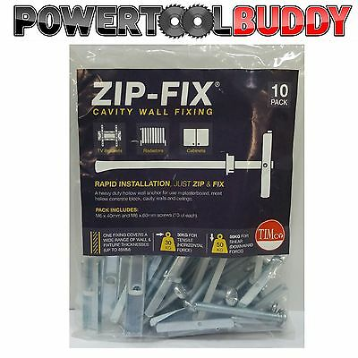 M6 ZIP-FIX Toggler Heavy Duty Wall Mounts Toggle/Snaptoggle Plasterboard Drywall