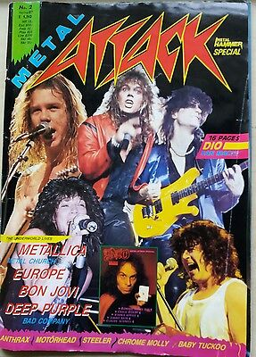 Metal Attack Magazine No. #2 1987 Bon  Jovi Deep Purple Mettalica, Dio Fan Mag