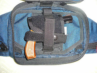 Holster Gun small arms  Fanny Pack Quick Release Velcro Concealed Ammo Pocket