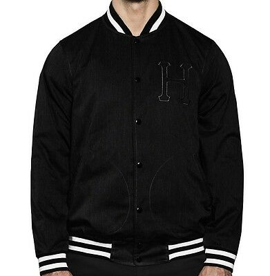 HUF Jacket Baseball Canvas black/white Größe L