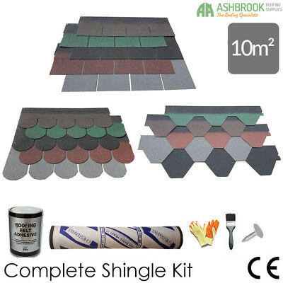 Roofing Felt Shingles | Shed Roof Felt Tiles | m² Roof Pack | 3 Shapes