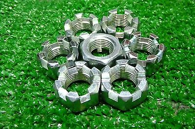 "9/16""-12 Castle Nuts Steel Zinc- 47 pcs FREE SHIPPING!"