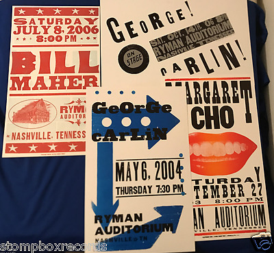 LOT of(4)2003-06 STAND UP COMEDY CONCERT POSTER Ryman Auditorium Nashville Hatch