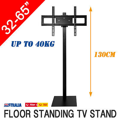 "1.3M Floor Standing 32-65"" LED PLASMA LCD Tilt Swivel TV Stand Mount Bracket"