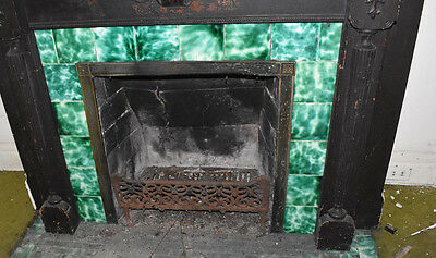 Complete Antique Fireplace Surround, Victorian American Encaustic Tile Company