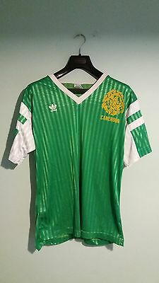 "Cameroon 1990 Home Football Adidas Shirt Jersey Trikot Maglia Size 46""/48"" (XL)"