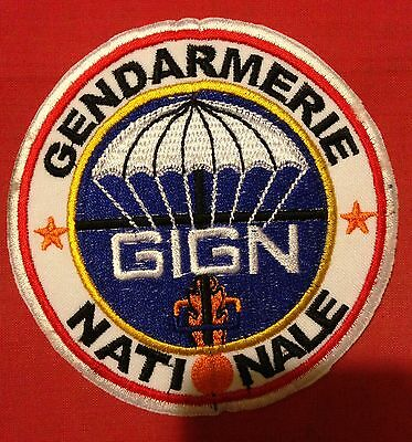 PATCH: GIGN FRANCE GENDARMERIE NATIONALE, Army Special Forces, Embroidery, New