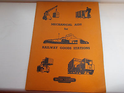 British Railways Mechanical Aids for Railway Goods Stations 1954 Booklet