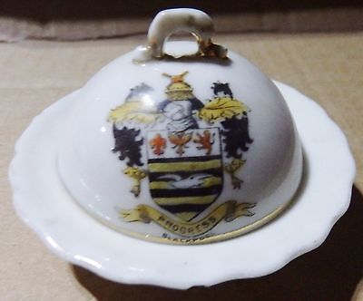 Gemma Crested China Round Bowl With Lid - Blackpool Crest (C5)