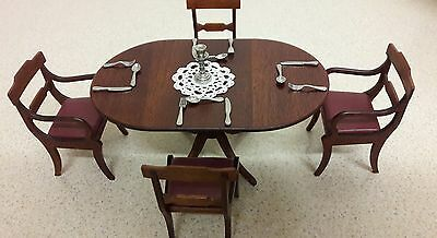McQueenie miniatures Dinning table and chairs 12th scale