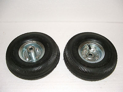 Roues Gonflables Roulements Jante Metal Galvanise + Pompe A Pied 2 Cylindres