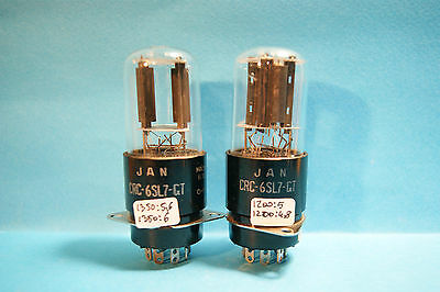 Coppia crc RCA VT229 JAN   6SL7 GT made in USA Tube Valve Rohre