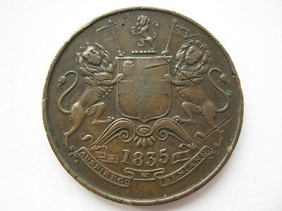 East India Company 1835 Half Anna VF reverse scratches