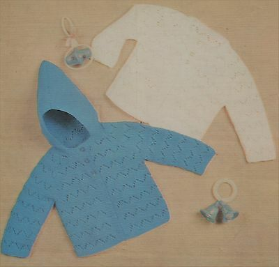 Vintage Knitting Pattern For Baby Jackets