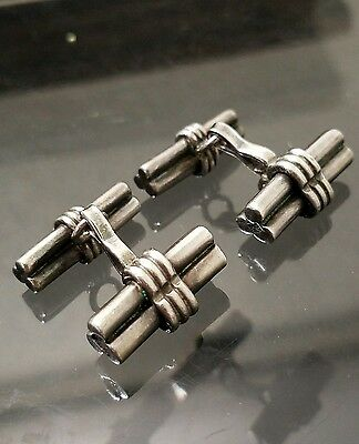 Rare Vintage Hector Aguilar Taxco 940 sterling silver cufflinks
