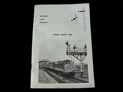 1994 BRANCH LINE SOCIETY Annual Report Minutes of Meeting Paperback Booklet