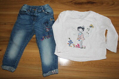 NEXT girls FAIRY top jeans outfit bundle 12-18 months *I'll combine postage