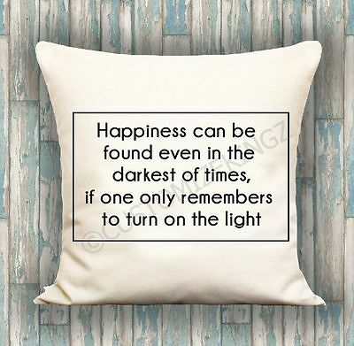 Happiness Can Be Found Harry Potter Typography Luxury Cute Cushion Perfect Gift