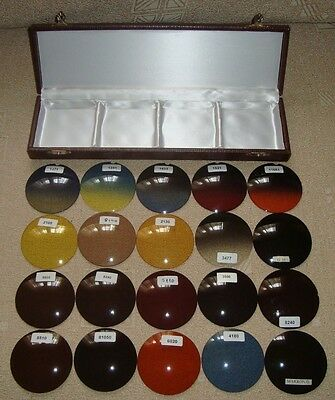 Vintage boxed set of 20 testing sunglass optical color lenses numbered #2