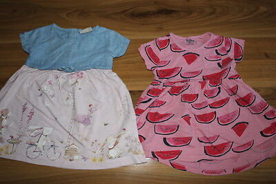 NEXT girls bunny and watermelon dress bundle 12-18 months *I'll combine postage