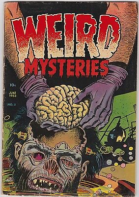 WEIRD MYSTERIES #5 (Jun 1953, Stanley Morse)  CLASSIC PRECODE HORROR COVER!!