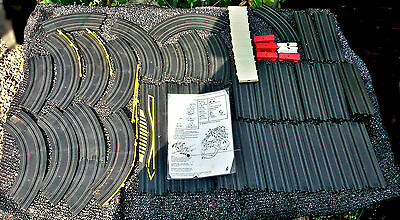 Vintage Action Games Grand Prix Slot Car Racing Track / Barriers Pre Mid 1970's