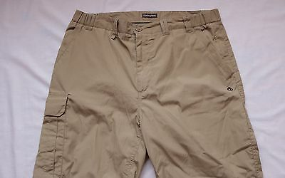 Craghoppers Trekking Outdoor Trousers Mens Size Large L Beige Sand SOLARDRY