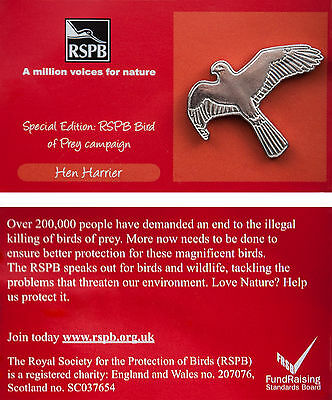 RSPB Pin Badge | Hen Harrier | Bird of Prey Campaign [00268]