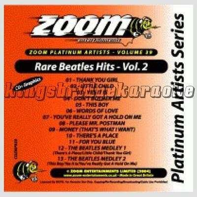 Zoom Karaoke Artists CDG CD+G 39 - Rare Beatles #2