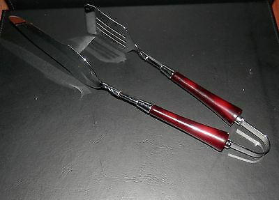 Vintage Glo Hill Server/tongs With Bakelite Handle