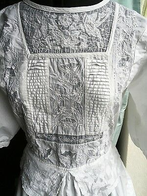 Vintage Phool white cotton dress edwardian style lace embroidered wedding party