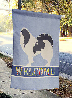 Carolines Treasures  BB5541CHF Japanese Chin Welcome Flag Canvas House Size