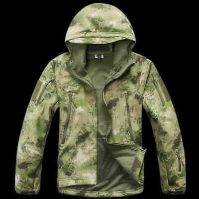A-TACS FG Softshell Waterproof Jacket Sharkskin Waterproof Hoodie Hunting TAD