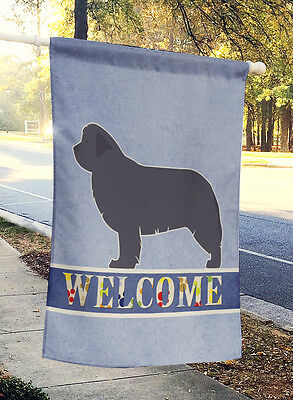 Carolines Treasures  BB5568CHF Newfoundland Welcome Flag Canvas House Size