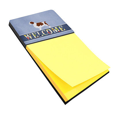 Carolines Treasures  BB5504SN Welsh Springer Spaniel Welcome Sticky Note Holder
