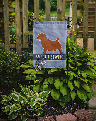 Carolines Treasures  BB5513GF Norfolk Terrier Welcome Flag Garden Size