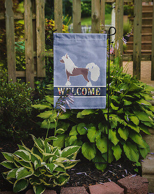 Carolines Treasures  BB5547GF Chinese Crested Welcome Flag Garden Size