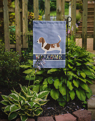 Carolines Treasures  BB5506GF Basset Hound Welcome Flag Garden Size